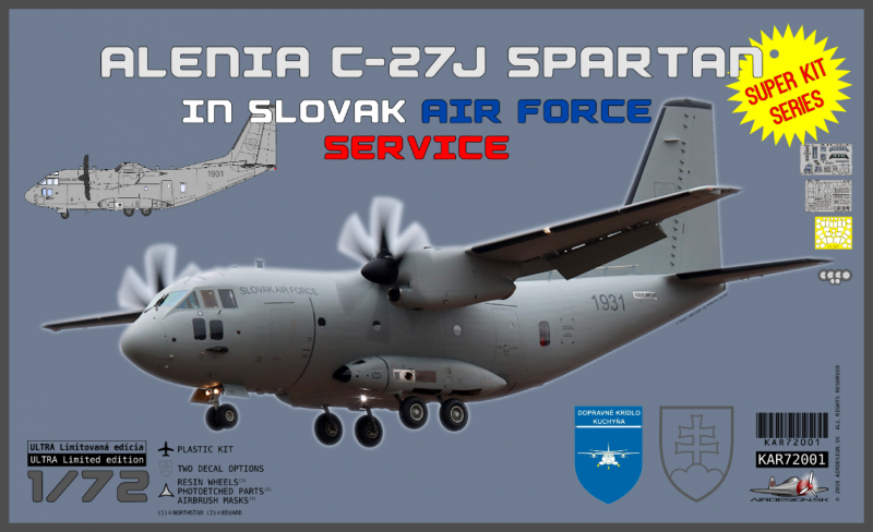 "Alenia C-27J Spartan Slovak Airforce Service ""Super kit series"" + tričko"