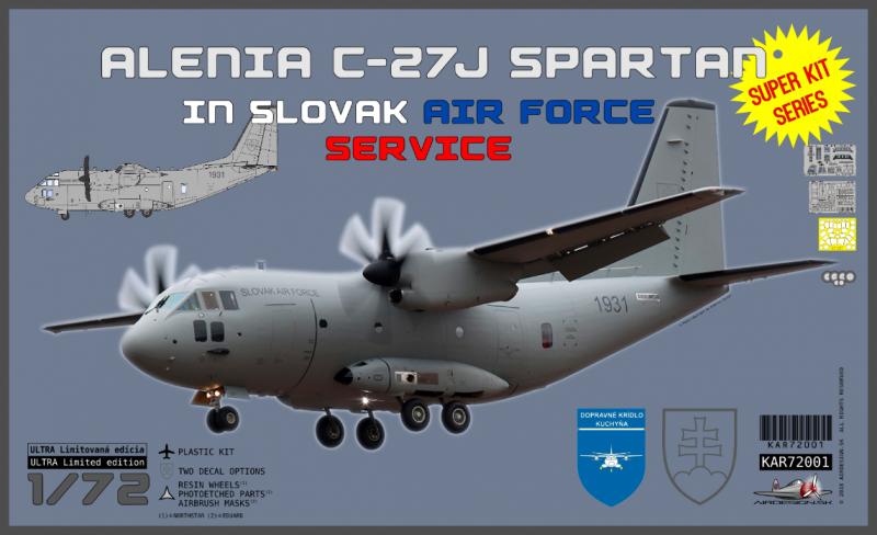 "Alenia C-27J Spartan Slovak Airforce Service ""Super kit series"" + tričko"