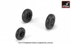 F-117A Nighthawk wheels w/ weighted tires, universal