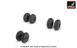 Mil Mi-26 Halo wheels w/ weighted tires, universal