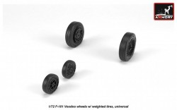 F-101 Voodoo wheels w/ optional nose wheels & weighted tires, universal