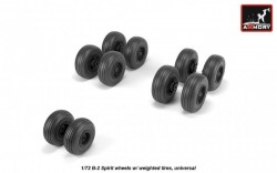 B-2 Spirit wheels w/ weighted tires, universal