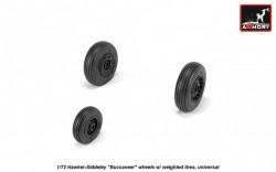 "Hawker-Siddeley ""Buccaneer"" wheels w/ weighted tires, universal"