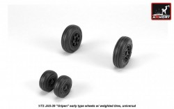"""JAS-39 """"Gripen"""" wheels w/ weighted tires, early, JAS-39A,B,C"""