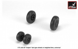 "JAS-39 ""Gripen"" wheels w/ weighted tires, late, JAS-39D,E,F"