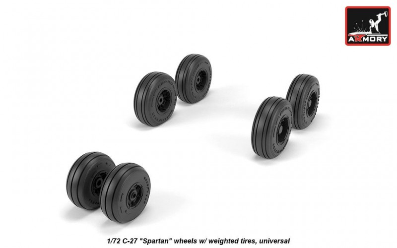 """C-27 """"Spartan"""" wheels w/ weighted tires, universal"""