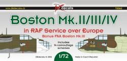 Boston Mk.II/III/IV in RAF service over Europe