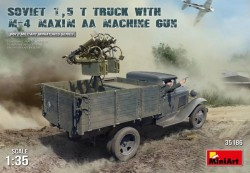 Soviet 1,5t Truck w/M-4 Maxim AA Machine Gun