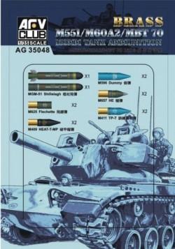 M551/60A/MBT70 152MM Ammunition (Brass)