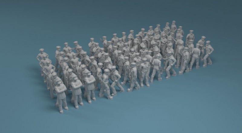 US NAVY figures in working positions set 2