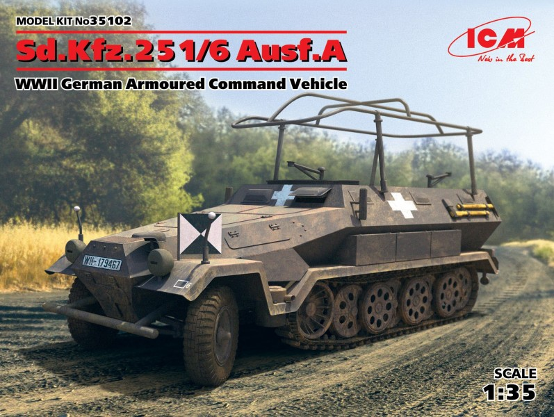 Sd.Kfz.251/6 Ausf.A,WWII German Armoured Command Vehicle