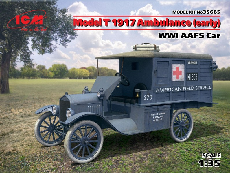 Model T 1917 Ambulance(early)WWI AAFS car