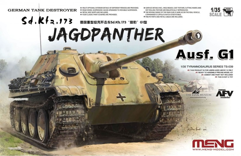 German Tank Destroyer Sd.KFZ.173 Jagdpanther G1
