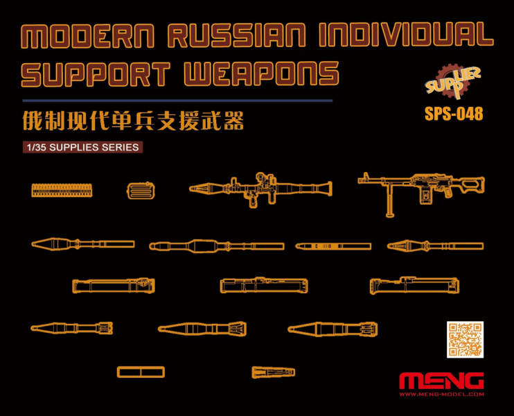 Modern Russian Individual Support Weapon (resin)