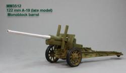 122 mm A-19 (late model). Monoblock barrel