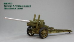 122 mm A-19 (late model). Monoblock barrel