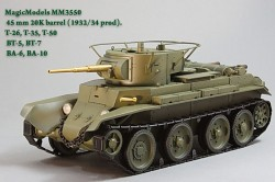 45 mm 20K barrel (1932/34 prod). T-26, T-35, T-50, BT-5, BT-7, BA-6, BA-10