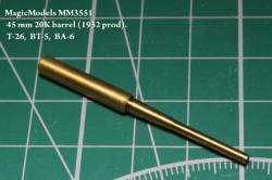 45 mm 20K barrel (1932 prod). T-26, BT-5, BA-3