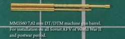 7,62 mm DT/DTM machine gun barrel.For installation on all Soviet AFV of World War II and postwar