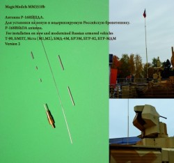 P-168BShDA antenna For installation on new and modernized Russian armored vehicles (Version 2)