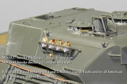 Smoke shell launcher (charged) mid type . For all AFV  based on Leopard 1 and 2, Marder, Luchs, Fuch