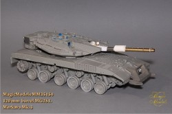 120 mm  barrel MG251. Merkava Mk.III