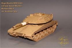 120 mm  barrel MG253. Merkava Mk.IV (Academy)