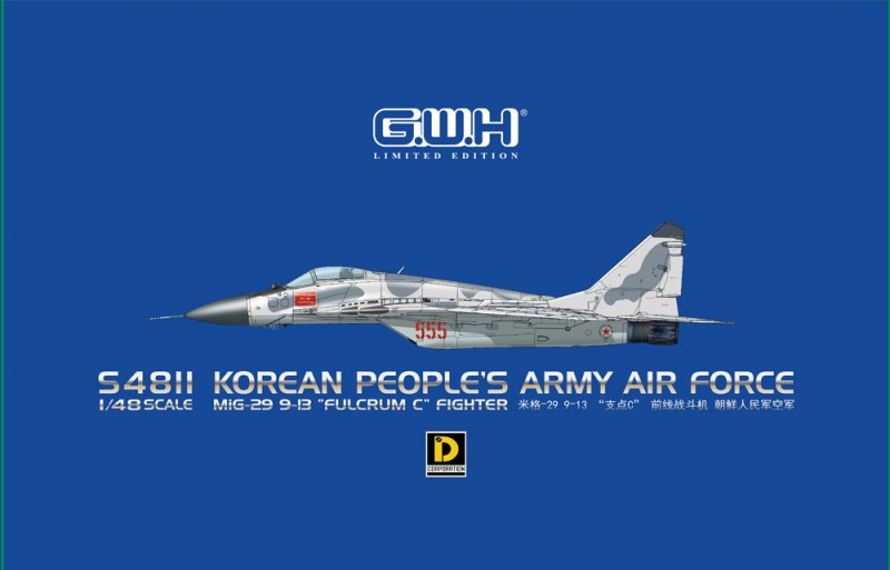 """MiG-29 9-13""""Fulcrum C"""" Fighter Korean People's Army Air Force"""