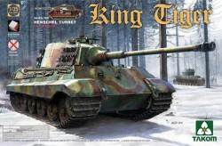 WWII German Heavy Tank Sd.Kfz.182 King Tiger Henschel Turret w/interior (new track)