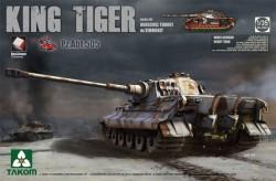 WWII German Heavy Tank Sd.Kfz.182 King Tiger Henschel Turret w/Zimmerit (new track)