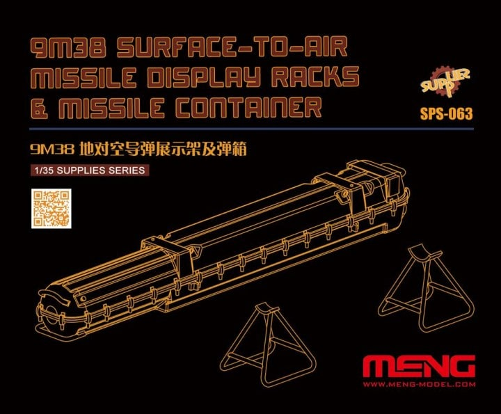 9M38 Surface-to-air Missile DisplayRacks & Missile Container (Resin)