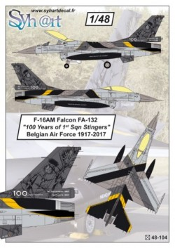 "F-16AM Falcon FA-132 ""100 Years 1st Sqn Stingers"" Belgian Air Force 1917-2017"