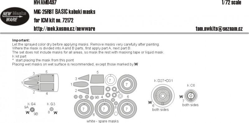 MiG-25 RBT BASIC kabuki masks