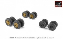B-36 Peacemaker wheels w/ weighted tires & optional nose wheels