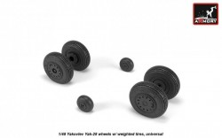 Yakovlev Yak-28 wheels w/ weighted tires