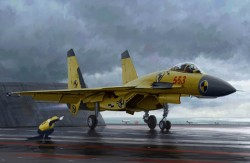 Chinese J-15 with flight deck