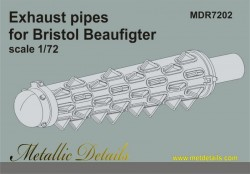Bristol Beaufighter. Exhaust pipes