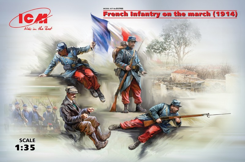 French Infantry on the march (1914) 4 Figure