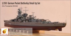 German Pocket Battleship Admiral Graf Spee Detail Up Set(f.Trumpeter 05316)