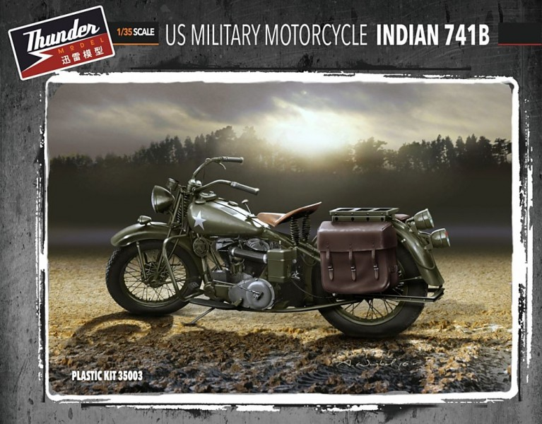 US Military Motorcycle Indian 741B (Two kits in box)