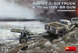 Soviet 2t 6x4 Truck w.76mm USV-BR Gun