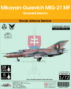Mikoyan-Gurevich MiG-21 MF Slovak Airforce Service