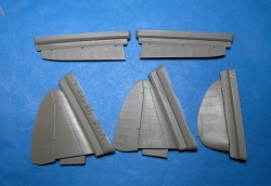 MiG-3 control surfaces (Trumpeter kit)