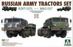 Russian Army Tractors KZKT-537L & MAZ-537 1+1