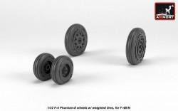 F-4 Phantom-II wheels w/ weighted tires, early