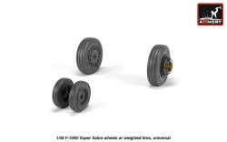 F-100D Super Sabre wheels w/ weighted tires