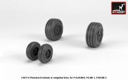 F-4 Phantom-II wheels w/ weighted tires, late