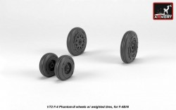F-4 Phantom-II wheels w/ weighted tires, early