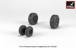 F-4 Phantom-II wheels w/ weighted tires, mid