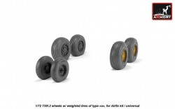 BAC TSR.2 wheels w/ weighted tires, type a